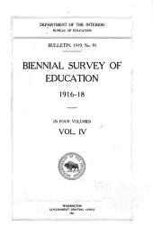 Biennial Survey of Education in the United States: Volume 4