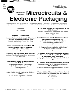 The International Journal of Microcircuits and Electronic Packaging PDF