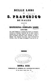 Delle lodi di S. Francesco di Sales