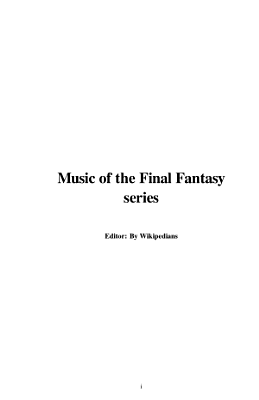 Music of the Final Fantasy Series PDF