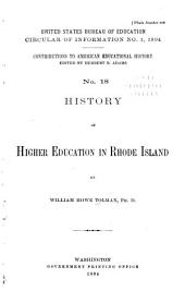 Contributions to American Educational History: Issues 18-19