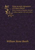 Some acrostic signatures of Francis Bacon PDF