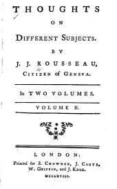 Thoughts on Different Subjects: Volume 2