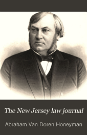 The New Jersey Law Journal: Volume 18