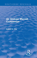 An Andrew Marvell Companion  Routledge Revivals  PDF