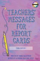 Teachers  Messages for Report Cards  Grades K   8 PDF