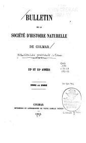 Mitteilungen der Naturhistorischen gesellschaft in Colmar: Volumes22à23