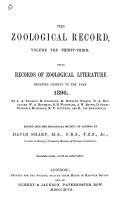 Download The Zoological Record Book