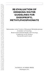 Re-evaluation of Drinking-Water Guidelines for Diisopropyl Methylphosphonate