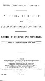 Appendix to Report of the Dublin Disturbances Commission