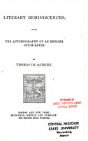 The Autobiography of an English Opium Eater PDF