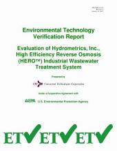 Evaluation of Hydrometrics, Inc., High Efficiency Reverse Osmosis (HERO) Industrial Wastewater Treatment System