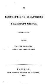 De inscriptione Melitensi phoenicio-graeca commentatio