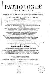 Patrologiae latina cursus completus ... series secunda: Volume 148