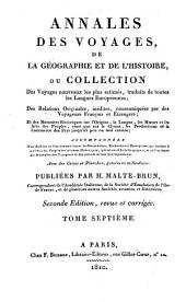 Annales des voyages de la géographie et de l'histoire: Volume7
