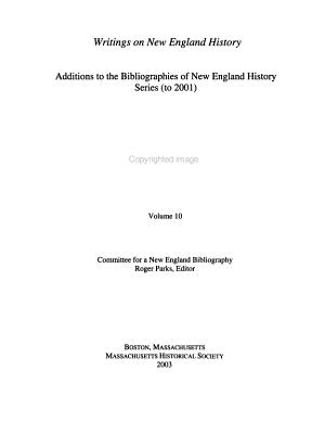 Writings on New England History