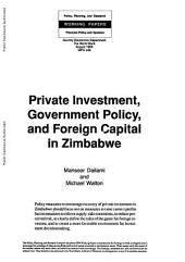 Private Investment, Government Policy, and Foreign Capital in Zimbabwe: Issue 248