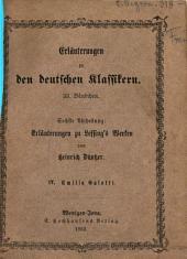 Erläuterungen zu Lessings Werken: Sechste Abtheilung. Lessings Emilia Galotti, Band 4