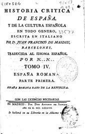 Historia critica de España, y de la cultura española en todo genero