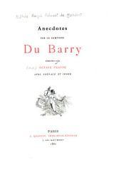 Anecdotes sur la comtesse du Barry