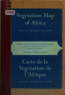 Download Carte de la Vegatation de L Afrique Au Sud Du Tropique Du Cancer Book