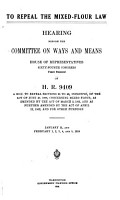 To Repeal the Mixed Flour Law PDF