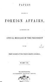 Papers Relating to the Foreign Relations of the United States: 1863. 1-2