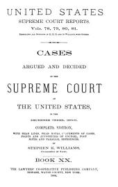 Reports of Cases Argued and Decided in the Supreme Court of the United States: 1-351 U.S; 1790- October term, 1955, Book 20