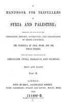 Murrays Hand Book Syria   Palestine PDF