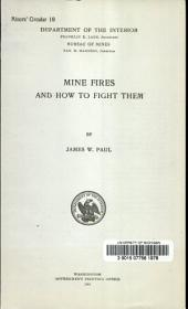Mine fires and how to fight them