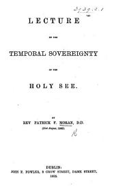 Lecture on the Temporal Sovereignty of the Holy See