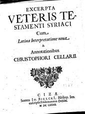 Excerpta Veteris Testamenti Syriaci
