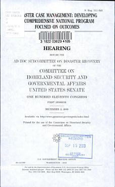 Disaster Case Management PDF