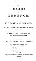 The Comedies of Terence PDF