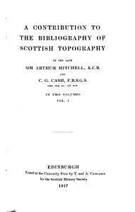 A Contribution to the Bibliography of Scottish Topography PDF