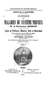 Hospice de la Salpêtrière: clinique des maladies du systéme nerveux, Volume1