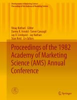 Proceedings of the 1982 Academy of Marketing Science  AMS  Annual Conference PDF