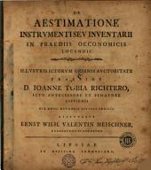 De aestimatione instrumenti seu inventarii in praediis oeconomicis locandis
