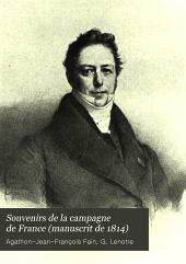 Souvenirs de la campagne de France (manuscrit de 1814)