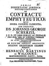 Diss. iur. sistens positiones de contractu emphyteutico
