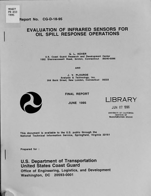 Evaluation of Infrared Sensors for Oil Spill Response Operations PDF