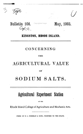 Concerning the agricultural value of sodium salts