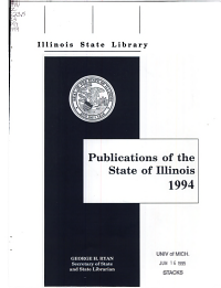 Publications of the State of Illinois 1994 PDF