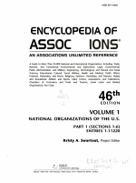 Encyclopedia of Associations V1 National Org 46 Pt1