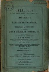 Veilingcatalogus, boeken van L. J. de Petit, 7 tot 9 november 1853