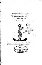 Il Decamerone di m. Giouanni Boccaccio nouamente corretto con tre nouelle aggiunte