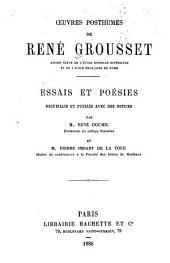 Œuvres posthumes ...: essais et poésies