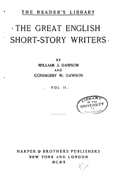 The Great English Short-story Writers: With Introductory Essays, Volume 2