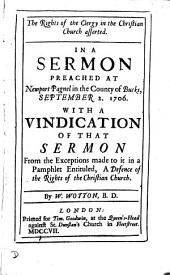 The rights of the clergy in the Christian Church asserted, in a sermon