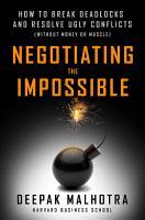 Negotiating the Impossible PDF